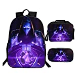 Fortnite Backpack Package Unique Series Lunch Box Pen Case Raven In Night
