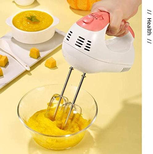 HUA JIE Petit électrique Fouet, Handheld Food Mixer, Accueil Cuisine Outils de Cuisson crème Fouetter Multifonctions Agitateur 5 Réglage de la Vitesse