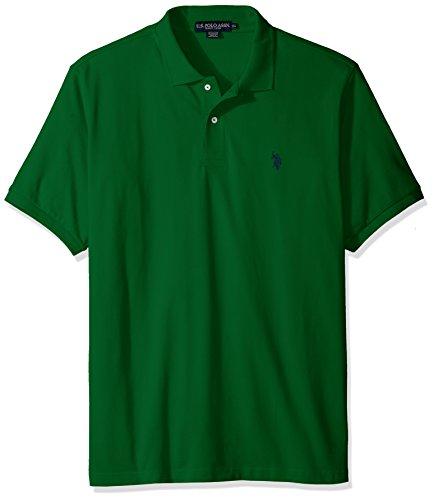 U.S. Polo Assn. Men's Classic Polo Shirt, Kelly Green Navy, S
