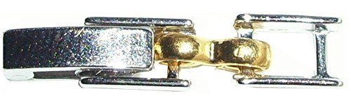 (Two Tone Fold Over Watch Bracelet Clasp Extender 2.87mm 2 tone 2.87 antiqued silver tone by Lisa's Unique Gifts N)