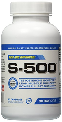 Testosterone Supplement Fat Burner for Men-S-500, Ultra Conc