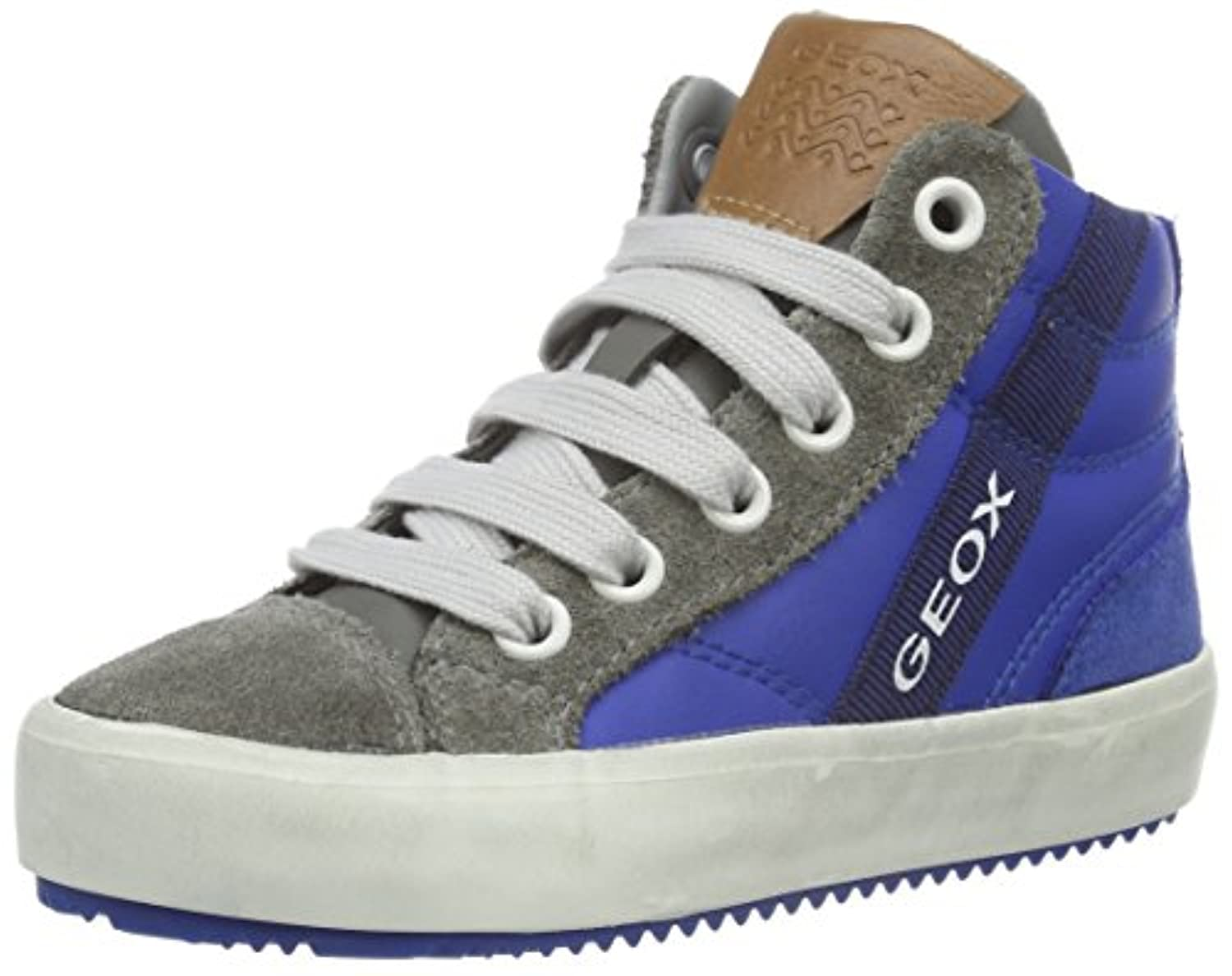 Geox J ALONISSO BOY B, Boys' Hi-Top Sneakers, Blue (ROYAL/GREYC0095), 7 Child  UK (24 EU)