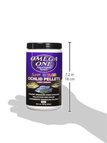 Pictures of Omega One Super Color Cichlid Pellet - Large 52332 2