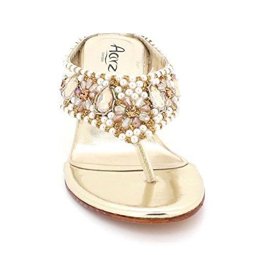Prom Diamante Damen Hochzeit Schuhe Kristall Braut Gold On Größe Keilabsatz Sandalen Frauen Slip Abend Komfort wqXdEqp