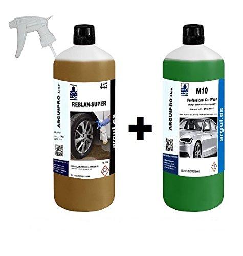 Pulisci cerchioni professionale + detergente auto professionale Reblan super 1 l + M10 professional car wash argui.es