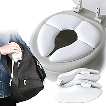 Baby Kids Toddler Travel Folding Padded Potty Seat Cushion Toilet Training New