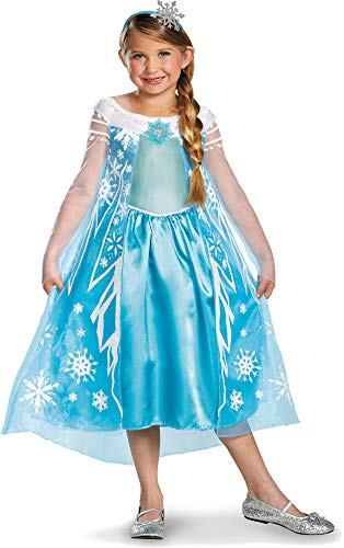 Disguise Disney Frozen Deluxe Elsa Costume with Headband Medium 7-8 -