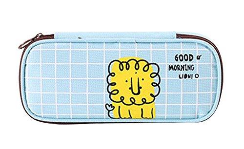 Cute Canvas Pencil Case Pouch Stationery Bag Makeup Case #04