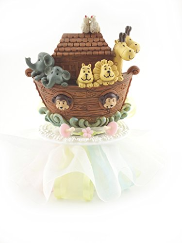 Noah's Ark Bank Baby Shower Cake Top by Party Favors Plus
