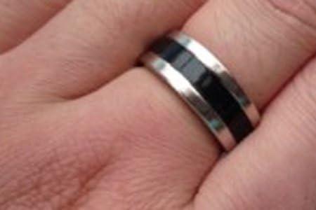 Tour de magie Anillo Imantado PK Ring Simple Negro (19mm)