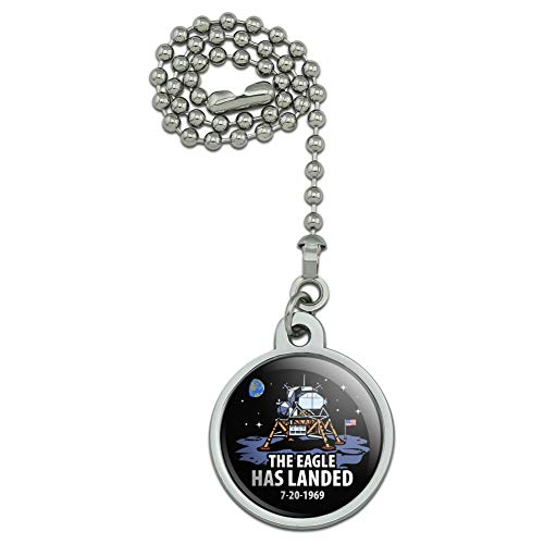 GRAPHICS & MORE NASA Apollo 11 The Eagle Has Landed Moon Landing Ceiling Fan and Light Pull Chain ()
