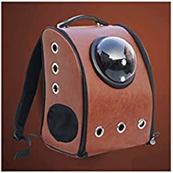 Pet Bag Cat Dog Carrier Spaceship Bag Capsule Backpack Box Brown