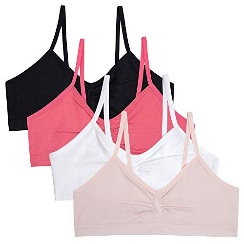 4 Pack bebe Girls Seamless Reversible Training Sports Bra