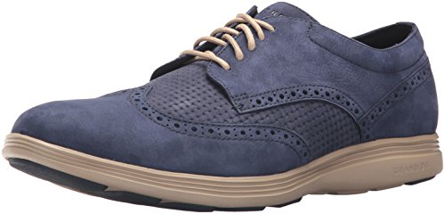 Cole Haan Men's Grand Tour Wing Ox Oxford, Marine Blue Weave/Cobblestone, 12 Medium US