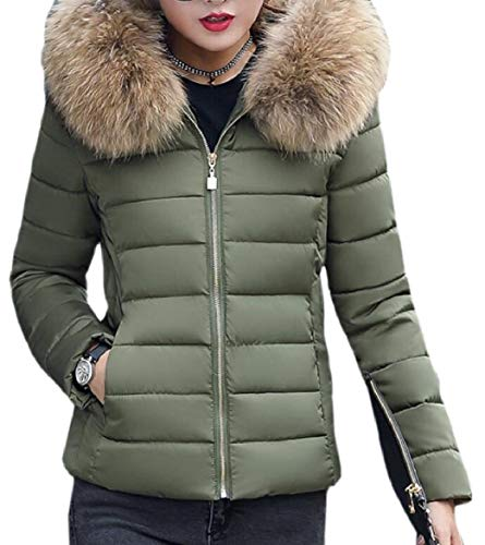 Puffer Fur Women Parkas Slim Down Winter security Coat 3 Fit Hood Faux Jacket XwFBEqdx