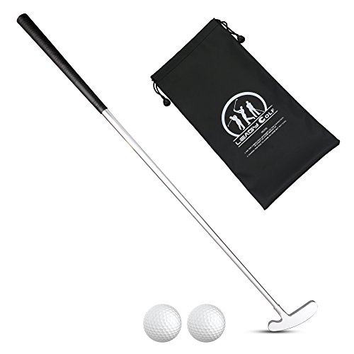 LEAGY 4 Sections Portable Best Two-Way Putter - Left And Right Hand - 2 Golf Balls Isolated On White Background - 1Pack Golf Bag (Best Golf Ball To Putt With)