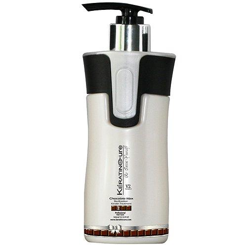 Keratin Cure Professional Brazilian Hair Treatment Chocolate Max V2 300ml 10 Fl oz by Keratin Cure