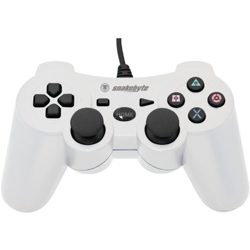 Snakebyte PS3 Wired Controller - White (Controller Ps3 Snakebyte)