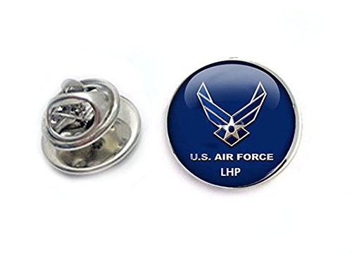 Initial Air Force Tie Tack, Personalized Airforce Military Tie Pin, Pilot Tie Tack Pin