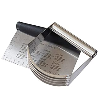 Bench Scraper and Dough Blender Set, Stainless Steel Pastry Cutter - 2 Pieces