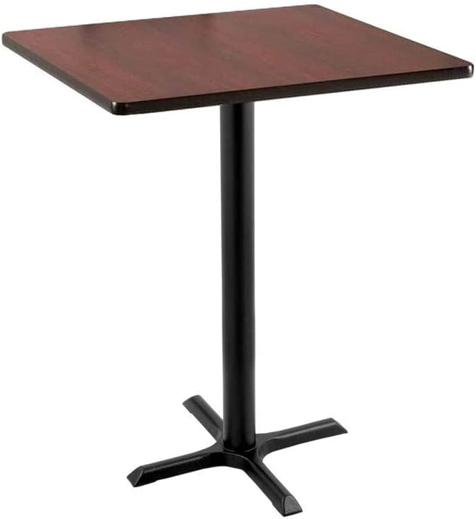 42 211 Black Table with 22 x 22 Foot and 30 x 30 Square Top by Holland Bar Stool