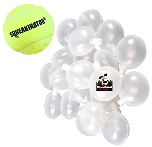Downtown Pet Supply 30 Replacement Squeakers, Variety Pack (10 Medium, 10 Bellowed, and 10 Large Squeakers) + FREE Tennis Ball that SQUEAKS, THE SQUEAKINATOR by Downtown Pet Supply (Image #1)