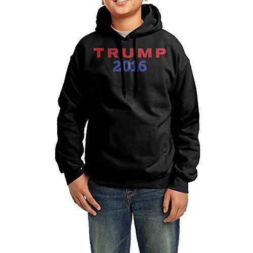 Donald Trump 2016 Filter College Hooded Sweatshirt Big Boy Black