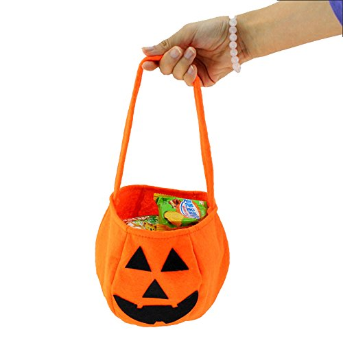 Halloween Party Prop Gift 6 Pcs Pumkin Candy Bag Party Favor For Kids (Homemade Halloween Costumes For Kids Bat)