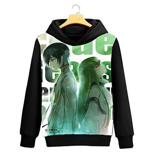 Outwear Sudaderas Code Con Hoodie Disfraz Cosstars Anime Sweatshirt Geass Pullover Cosplay Capucha Negro Abrigo 1 Suéter nTqSPx