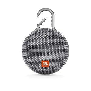 JBL Clip 3 by Harman Ultra-Portable Wireless Bluetooth Speaker with Mic (Grey)