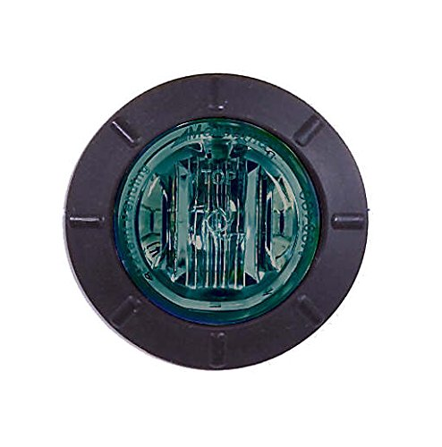 Maxxima M09400G Green 1.25'' Round LED Mini Courtesy Marker Light by Maxxima