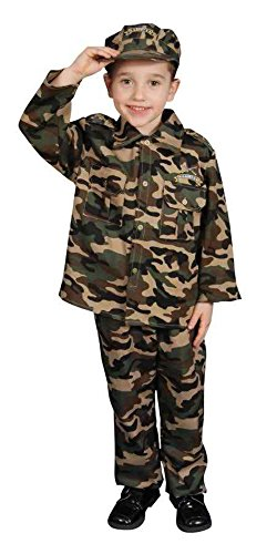 Baby Army Uniform (UHC Little Army Officer Uniform Toddler Kids Fancy Dress Halloween Costume, 3T-4T)