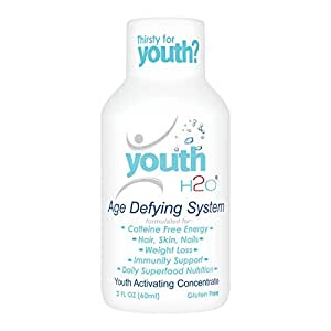youthH2O - Age Defying System, Anti-Aging, Prevent Hair Loss, Great Skin Care, Glossy Hair & Nail, Best Biotin added Product for Skin, Hair & Nail - 15 Pack One Month Supply - Blooming Apple Flavor