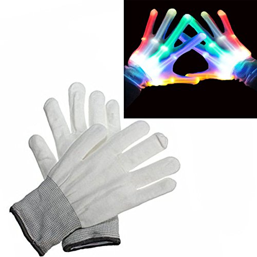 DIMY DM09 LED Flashing Light Gloves for Children - Amazing Colorful Flashing Novelty Toys & Christmas Gift for Kids