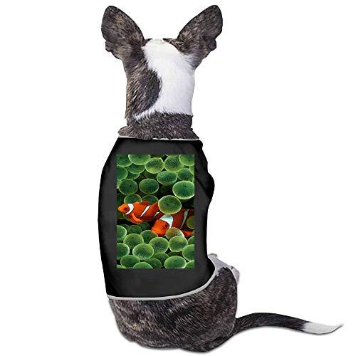 StyleDirect Pet Clothes Puppy Cute Pajamas Dog Cotton Body Suit,Animals Aquatics Clown Fish Hd Nemo Pets Cats Jumpsuits Cozy Apparel Dogs Pjs (Black)-M ()