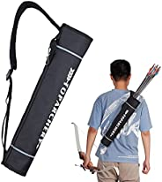 TOPARCHERY Arrow Quiver Holder Hip Large Capacity Arrow Backpack Bag Compound Recurve Bow Practice Target Nylo