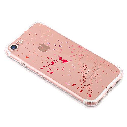 Vanki® iPhone 7 Funda, Protectiva Carcasa de Silicona de gel TPU Transparente, Ultra delgada, Amortigua los golpes Case Cover Para iPhone 7 E