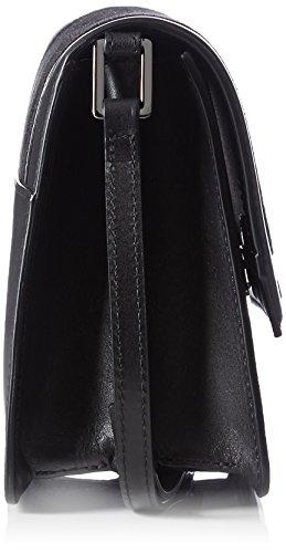 ECCO Glade Borsa a Tracolla, Donna, Nero(Black/Black Blob 190490), 8x17x19 cm (B X H T)
