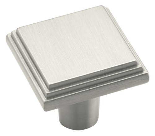 Amerock BP26117G10 Manor 1-1/16in(27mm) LGTH Knob - Satin Nickel (Amerock Manor Cabinet Pull)