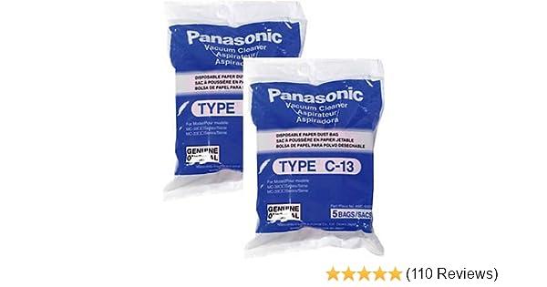 Panasonic Type C-13 Bags #AMC-S5EP- Genuine - 10 Pack