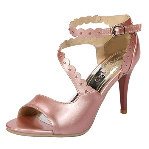 Sandales Femmes Coolcept Bout Ouvert Pink Chaussures 5R5nxw8