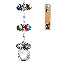 H&D Crystal Hanging Ornaments Crystal Suncatcher Window Pendant Fengshui Rainbow Maker Chandelier Ball Prism (multi)