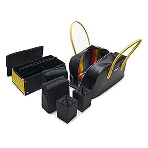 MaD BaG Fashionable Luxury Tote Bag, Black/Yellow