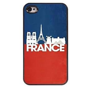 WQQ Francia y el caso duro ciudad diseño de aluminio Eiffel para el iphone 4 / 4s