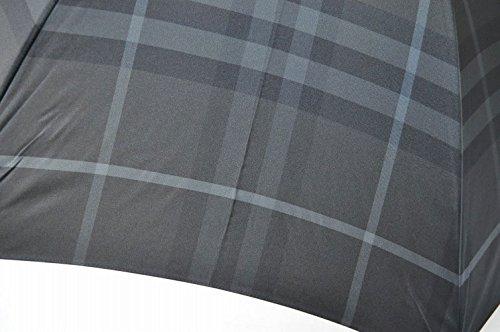 [バーバリー]BURBERRYチェックが素敵な紳士カバー付ジャンプ雨傘(長傘)/チャコールグレー