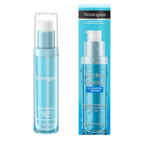 Neutrogena Hydro Boost Hydrating Hyaluronic Acid Serum, Oil-Free and Non-Comedogenic Face Serum Formula for Glowing Complexion, Oil-Free & Non-Comedogenic, 1 fl. oz.
