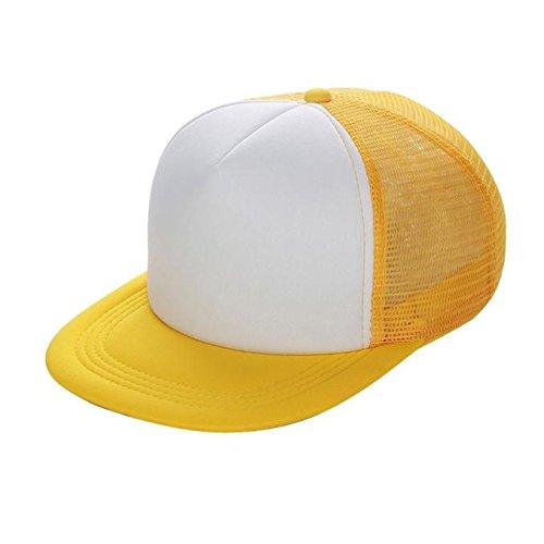 Modaworld Gorras Beisbol, Sombrero de Gorra de béisbol de Malla Unisex Sombrero de Visera en Blanco Ajustable Baseball Cap Sombreros Planos Hip-Hop: ...