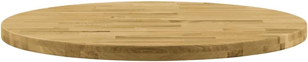 vidaXL Piano del Tavolo Legno Massello di Rovere Quadrato 23mm 80x80cm Ripiano