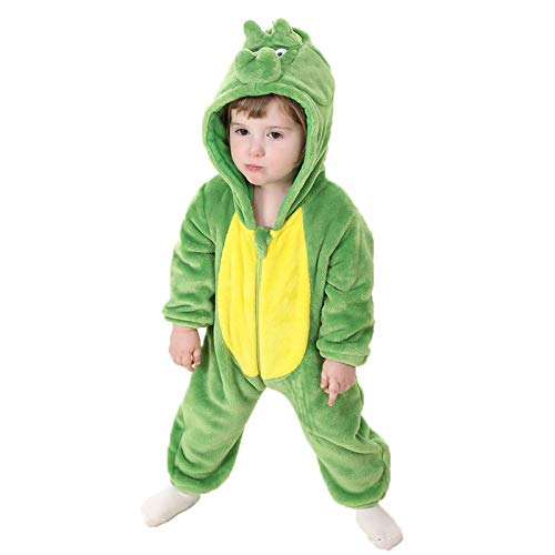 Bebé Ropa Peleles para Dormir y Batas con Capucha Dinosaurios Franela Pijama Mono 1-36 Meses: Amazon.es: Ropa y accesorios
