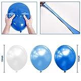 """100 Pack 12"""" White & Dark Blue & Light Blue"""